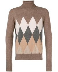 Ballantyne - Geometric Turtle-neck Sweater - Lyst