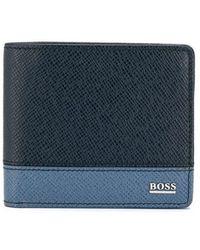 BOSS - Two-tone Bi-fold Wallet - Lyst