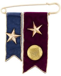 Rosantica - Metallic Embellished Brooch - Lyst