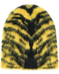 Laneus Animal Pattern Hat - Yellow