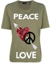 Love Moschino - Embellished T-shirt - Lyst