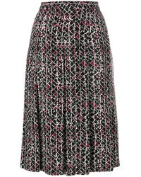 Marni - Patterned Pleated Skirt - Lyst