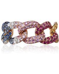 SHAY - Rainbow Jumbo Diamond Link Ring - Lyst