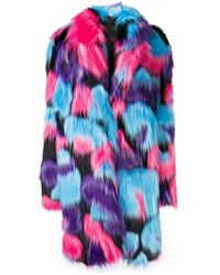 Frankie Morello - Faux Fur Coat - Lyst
