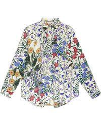 Gucci - New Flora Print Oversize Shirt - Lyst