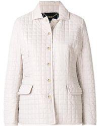 Ferragamo - Quilted Button Jacket - Lyst