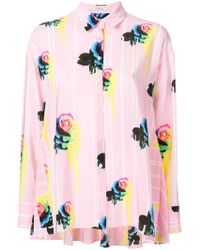 Iceberg - Floral Stripe Trapeze Shirt - Lyst