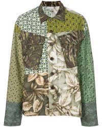 Pierre Louis Mascia - Patch-work Fitted Jacket - Lyst