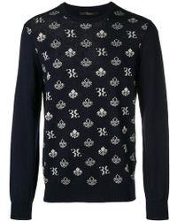 Billionaire - Logo Print Sweater - Lyst