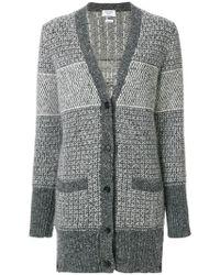 Thom Browne - Tweed Elephant Toy Icon Long Cardigan - Lyst