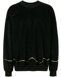 Haider Ackermann - Clerck Sweater With Embroidered Gold Detail - Lyst
