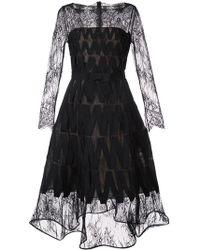 Oscar de la Renta - Flower Bouquet Lace Dress - Lyst