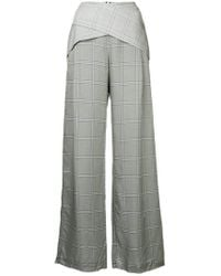 Dion Lee - Checked Palazzo Trousers - Lyst