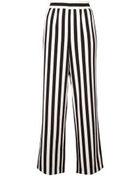 Alice + Olivia - Striped High-waist Trousers - Lyst