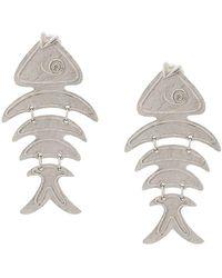 Oscar de la Renta - Fish Short Earrings - Lyst