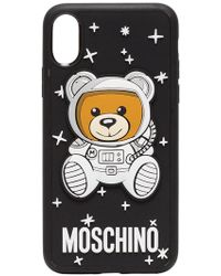 Moschino - Black Bear And Logo Printed Iphone Case - Lyst