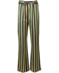 Pinko - Striped Flare Trousers - Lyst