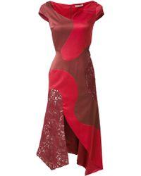 Martha Medeiros - Panelled Midi Heli Dress - Lyst