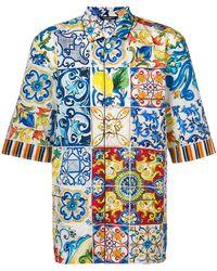 Dolce & Gabbana - Camicia con motivo Majolica - Lyst