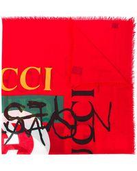 Gucci Coco Capitán Logo Shawl
