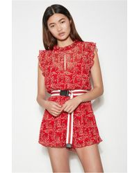 f42ee40c233 Lyst - The Fifth Label Stay Awhile Playsuit in Orange