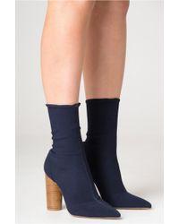 Jaggar - Ribbed Sock Boot - Lyst