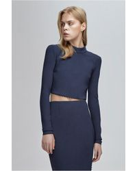 Finders Keepers - Aspects Long Sleeve Crop - Lyst