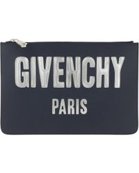 Givenchy - Envelope Iconic Prints Pouch Night Blue - Lyst