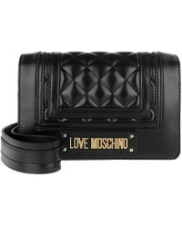 728db91eb597 Love Moschino Quilted Crossbody Bag Black gold in Black - Lyst