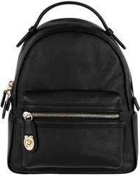 COACH - Polished Pebble Campus Backpack 23 Black - Lyst