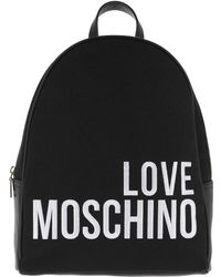 Love Moschino - Canvas Embroidery Backpack (black) Backpack Bags - Lyst