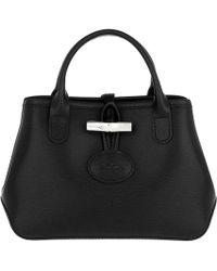 Longchamp - Roseau Crossbody Bag Leather Black - Lyst 18eda8c6851e4