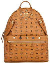 MCM - Dual Stark Backpack Medium Cognac - Lyst