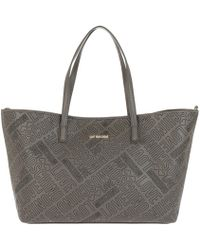Love Moschino - Borsa Embossed Pu Shopping Bag Grigio - Lyst