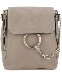 Chloé - Faye Backpack Small Motty Grey - Lyst