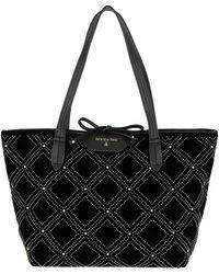 Patrizia Pepe - Quilted Shopping Bag New Velvet Black - Lyst