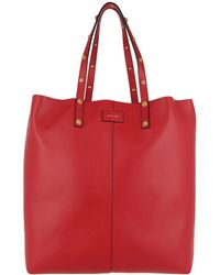 Versace - Shopper Calf Leather Red/black/gold - Lyst