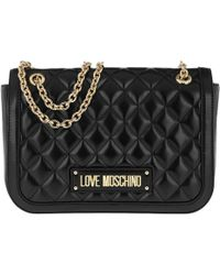 Love Moschino - Quilted Chain Shoulder Bag Black - Lyst