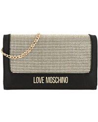 1c64f8cd0bc5 Love Moschino - Satin Chain Crossbody Bag Nero - Lyst