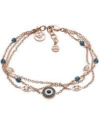 Emporio Armani - Egs2531221 Fashion Bracelet Rosegold - Lyst