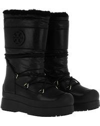 Tory Burch - Lace Up Moon Boots Black - Lyst