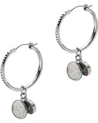 Emporio Armani - Ladies Earring Silver - Lyst