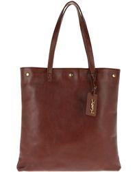 Saint Laurent - Noe Shopping Bag Cuoio Brillant - Lyst