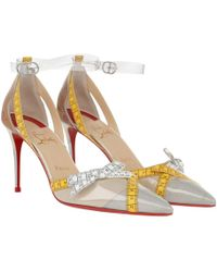ff491d85107 Christian Louboutin Pumps Fliketta 100 Patent Nude in Natural - Lyst