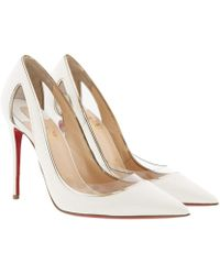 Christian Louboutin - Cosmo 100 Metallic-trimmed Pvc And Patent-leather Court Shoes - Lyst