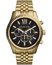 Michael Kors - Mk8286 Gents Lexington Watch Gold - Lyst