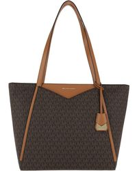 Michael Kors - Whitney Lg Tz Tote Brown - Lyst