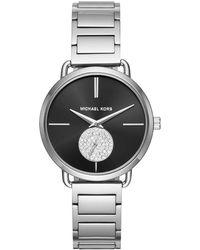 Michael Kors - Ladies Portia Watch Silver - Lyst