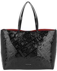 Love Moschino | Logo Embossed Patent Shopping Bag Nero | Lyst