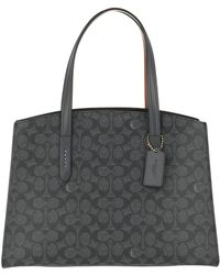 COACH - Canvas Signature Charlie Carryall Charcoal Midnight Navy - Lyst